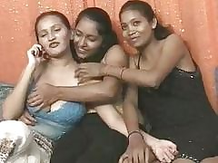 threesome porn : indian girl having sex